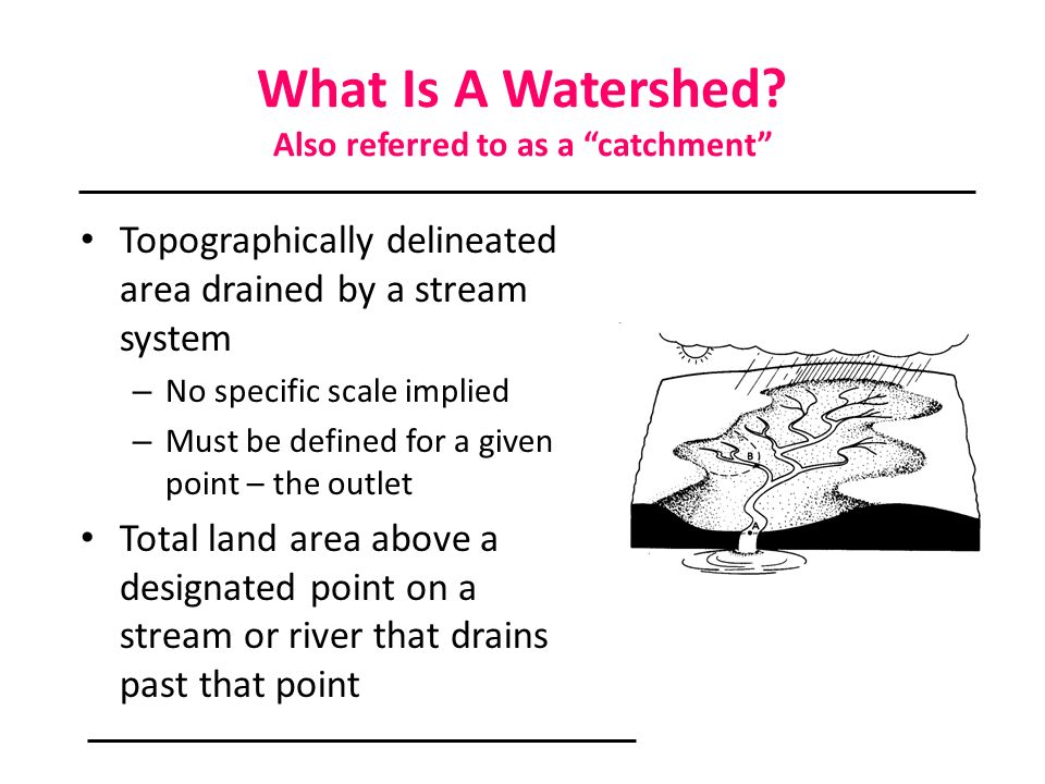 What Is A Watershed Also referred to as a catchment