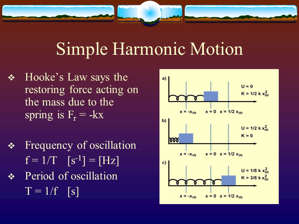 Hooke's Law and Simple Harmonic Motion