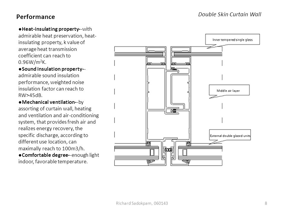 Double Curtain Wall : Curtain wall structural seminar submitted by richard