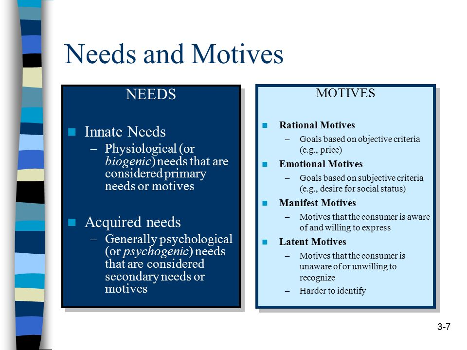innate and acquired needs consmer behaviour 4 consumer behaviour needs & wants  if outcome of behaviour is valued by consumers will be more likely to perform the behaviour  needs acquired in the .