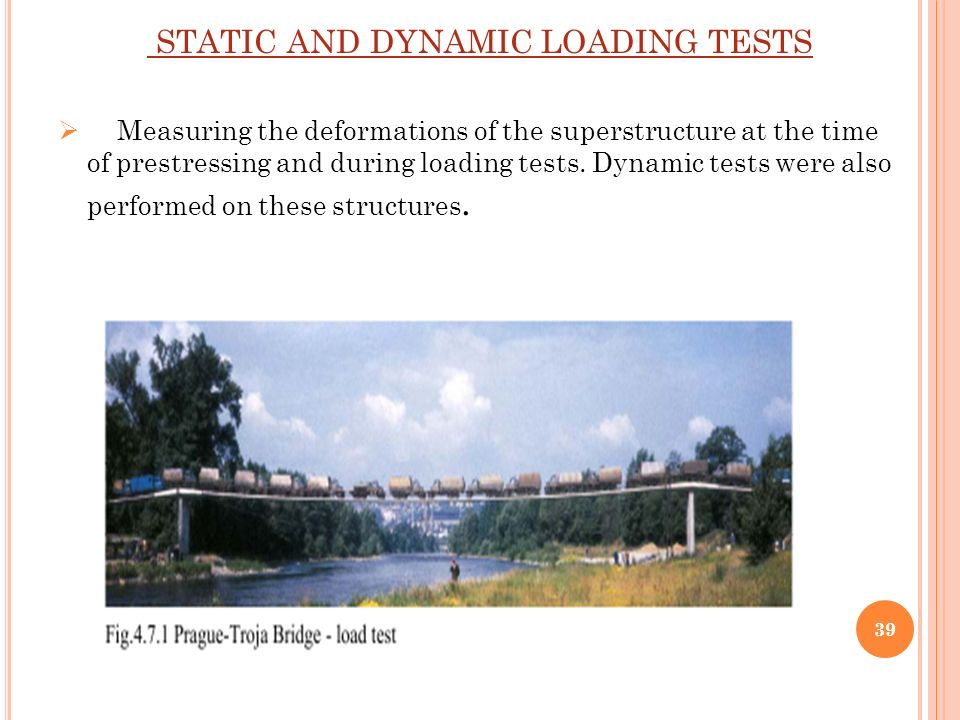 Dynamic Load Testing : Stress ribbon bridges prepared by shaikh mohammadsoyab a