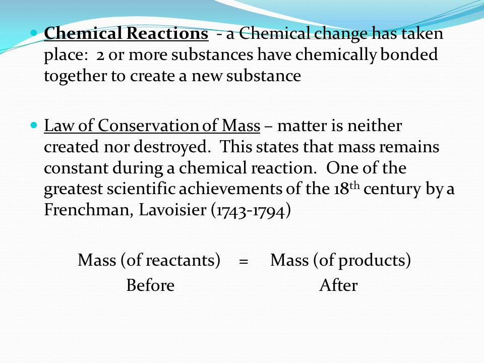Chemistry is the study about how matter is put together, how atoms ...