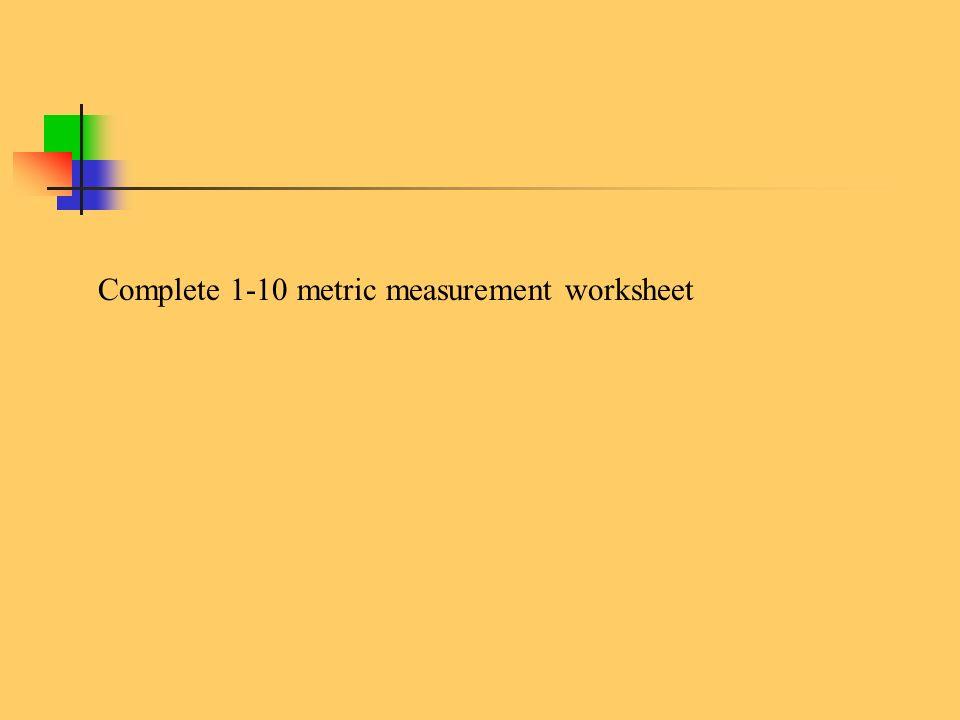 Units of Measurement Mrs Baldessari Chemistry ppt video online – Metric Measurement Worksheet