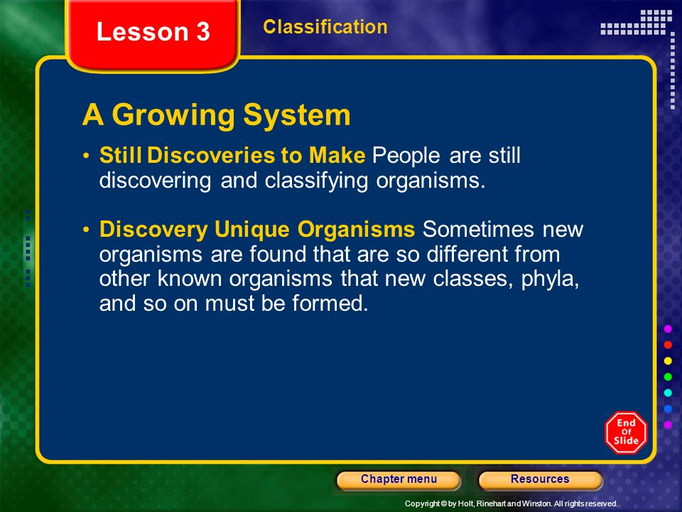 A Growing System Lesson 3