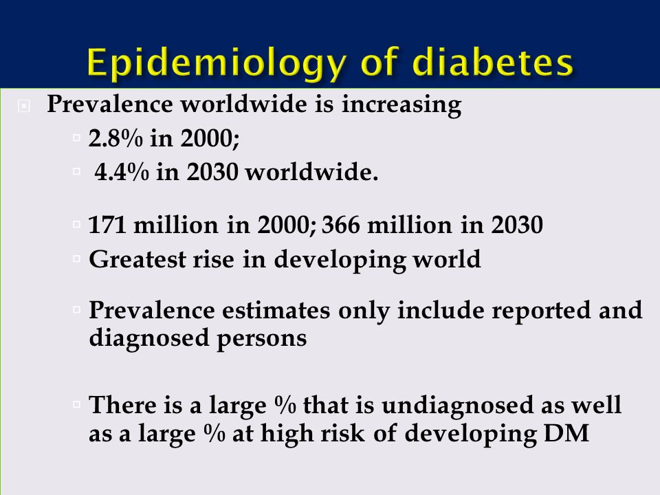 epidemiology of diabetes ppt