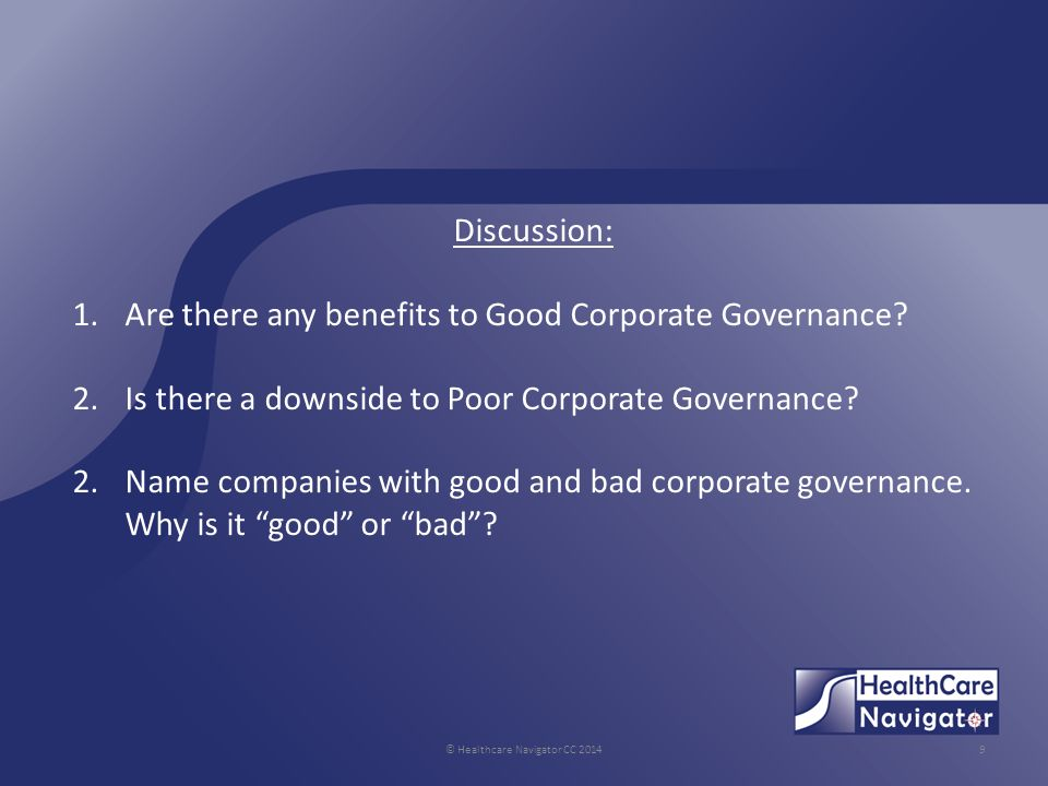 benefits of good governance While there is a lot written, and a lot of training is delivered on information governance, it often comes down to common sense i always say to people – just imagine that the piece of paper in your hand has your own personal details on it – your date of birth, weight, some operation you had as a child etc ng.