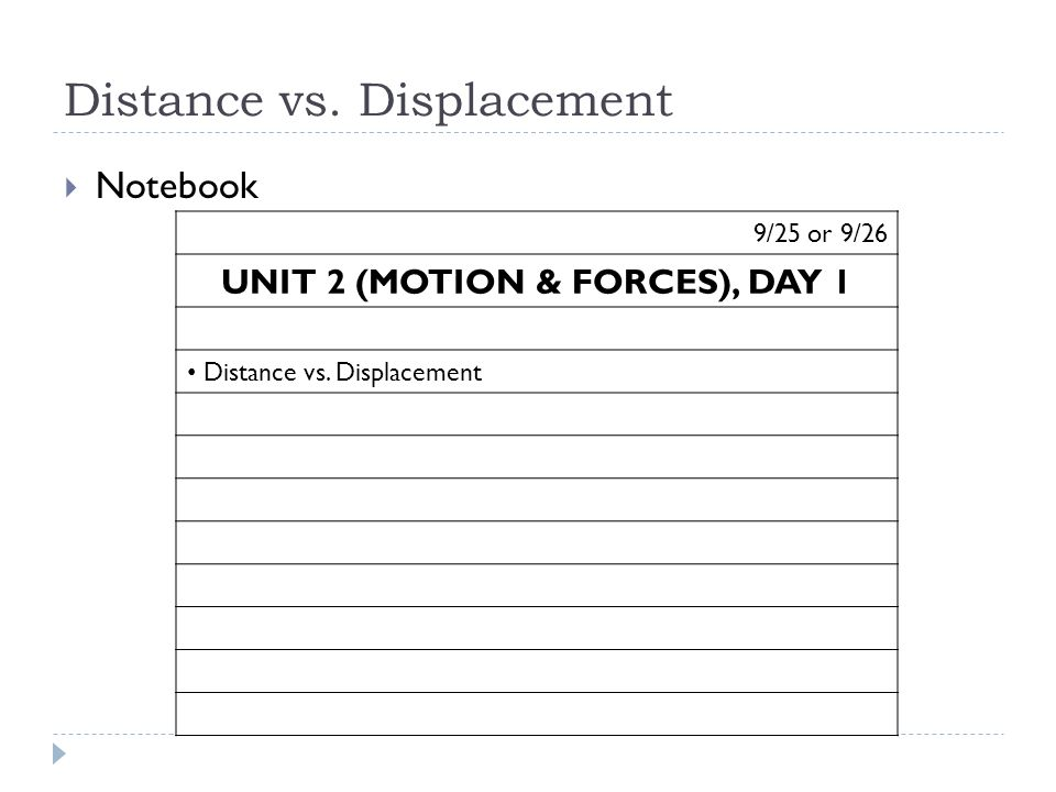 Unit 2 Motion Forces Day 1 ppt video online download – Distance and Displacement Worksheet with Answers