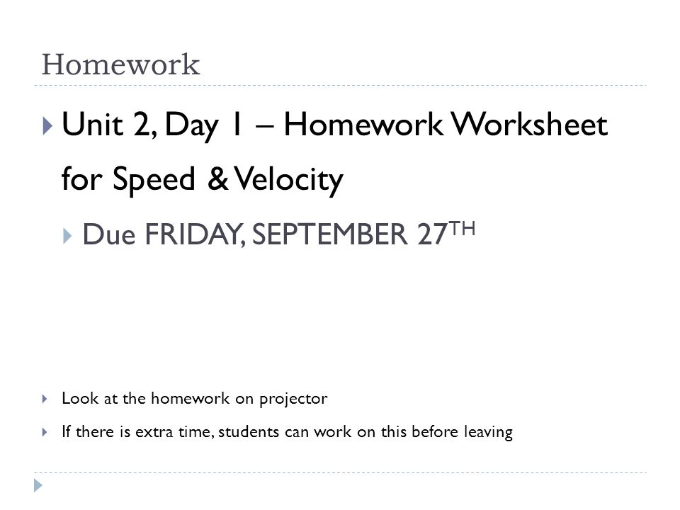 Unit 2 Motion Forces Day 1 ppt video online download – Speed and Velocity Worksheet