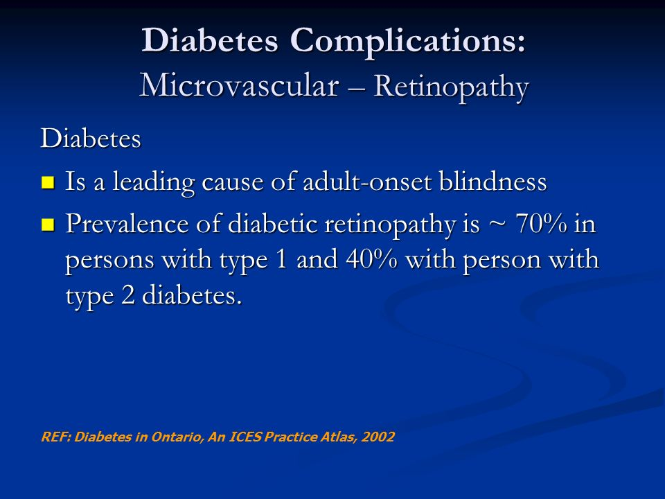 Diabetes Complications: Microvascular – Retinopathy
