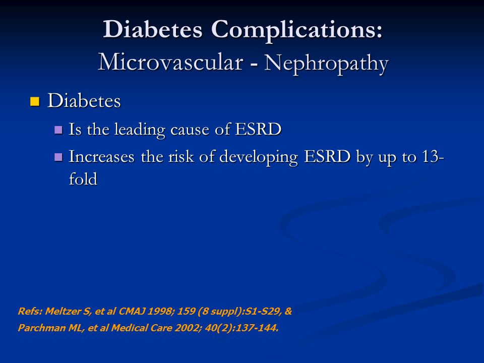 Diabetes Complications: Microvascular - Nephropathy