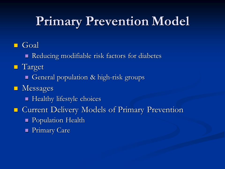 Primary Prevention Model