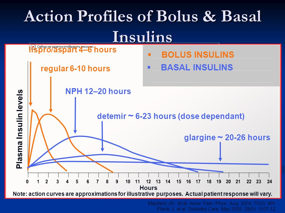 Action Profiles of Bolus & Basal Insulins