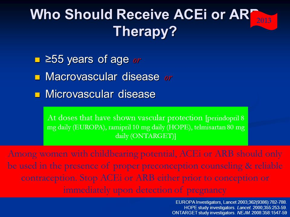 Who Should Receive ACEi or ARB Therapy