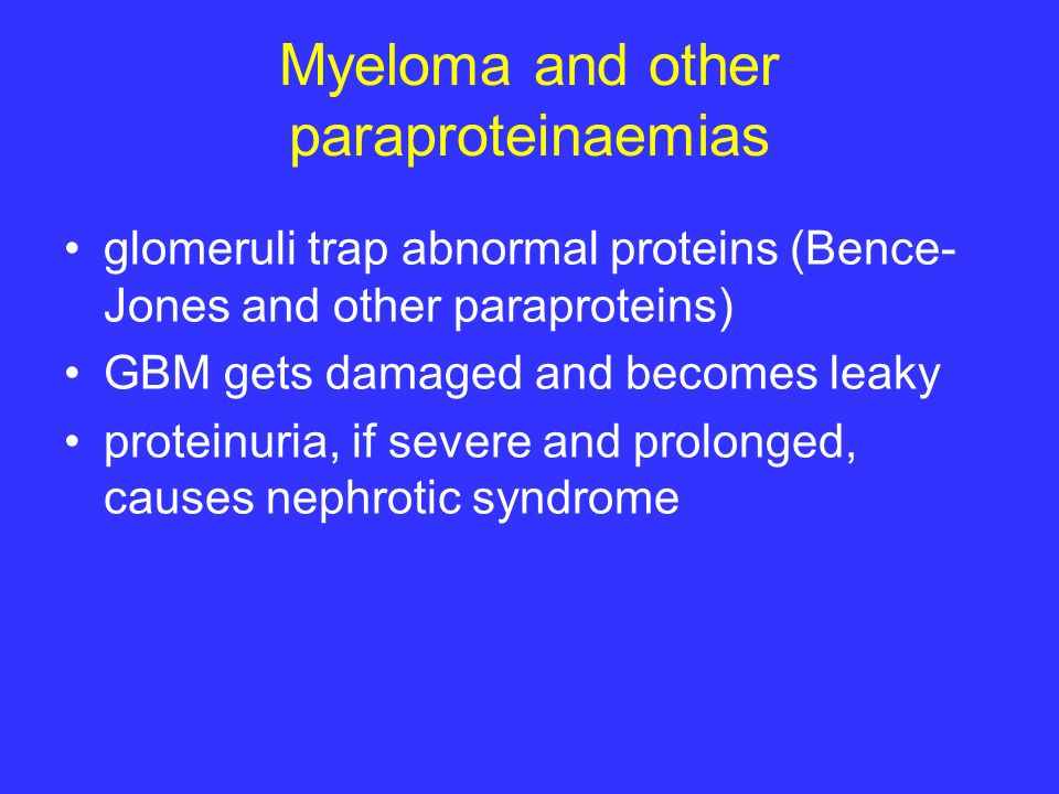 Myeloma and other paraproteinaemias