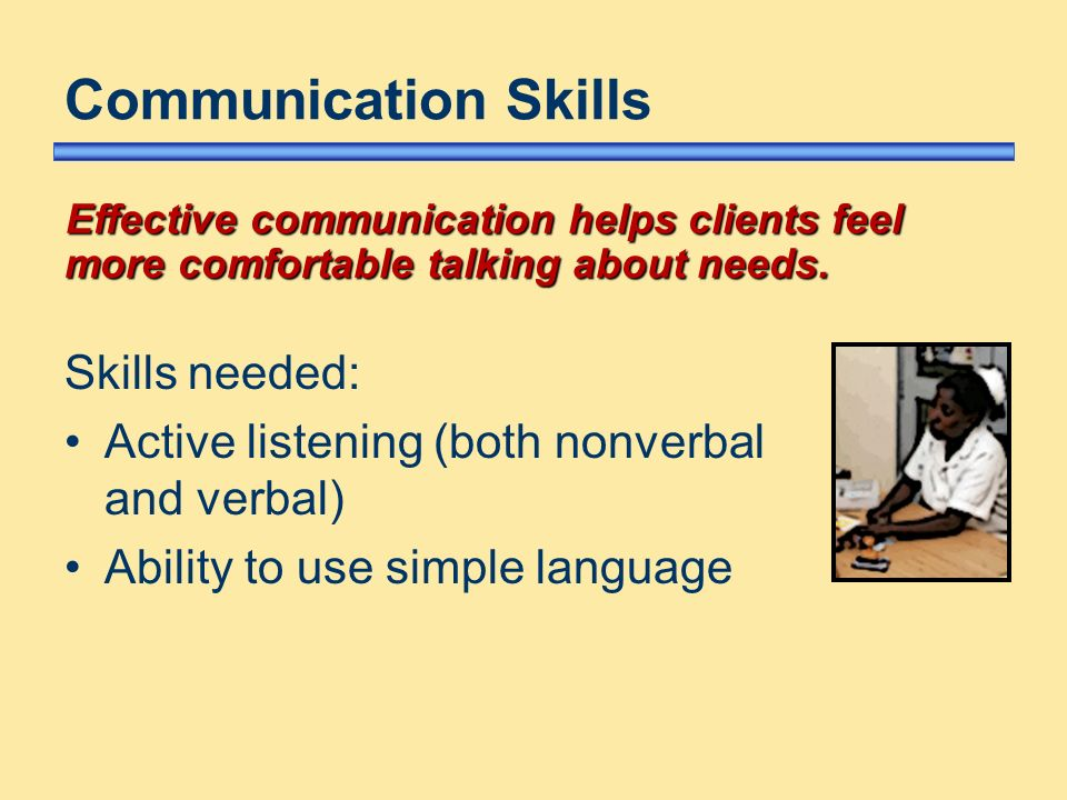 explain the skills needed to communicate Communication skills are important to everyone - they are how we give and   communicate (or say things) affect how others perceive you explain  be  proactive in helping a teacher or a supervisor understand how you need to be  taught.
