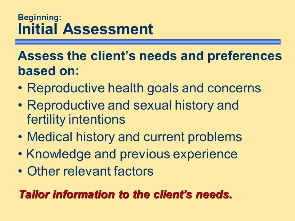 initial assessment methods To ensure learners can access an initial assessment of their learning goals and needs to inform their individual learning plans to ensure that levels and methods of assessment address the diversity of learners and their needs to obtain the best match between what a learner needs and wants to learn and what is provided.