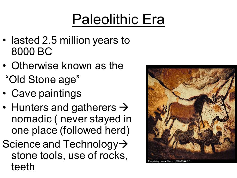 changes from the paleolithic to the neolithic How did the roles of men and women change from the paleolithic age to the neolithic age paleolithic age: women- stayed close to camps gathered berries, nuts, and grains men- did most of hunting of large animals.