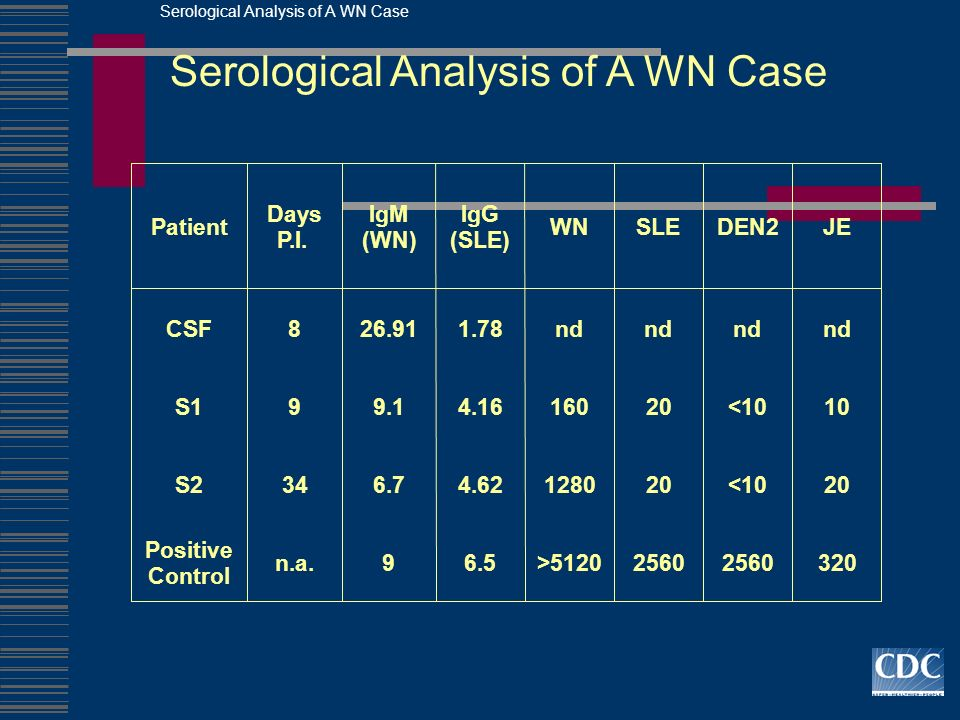 Serological Analysis of A WN Case
