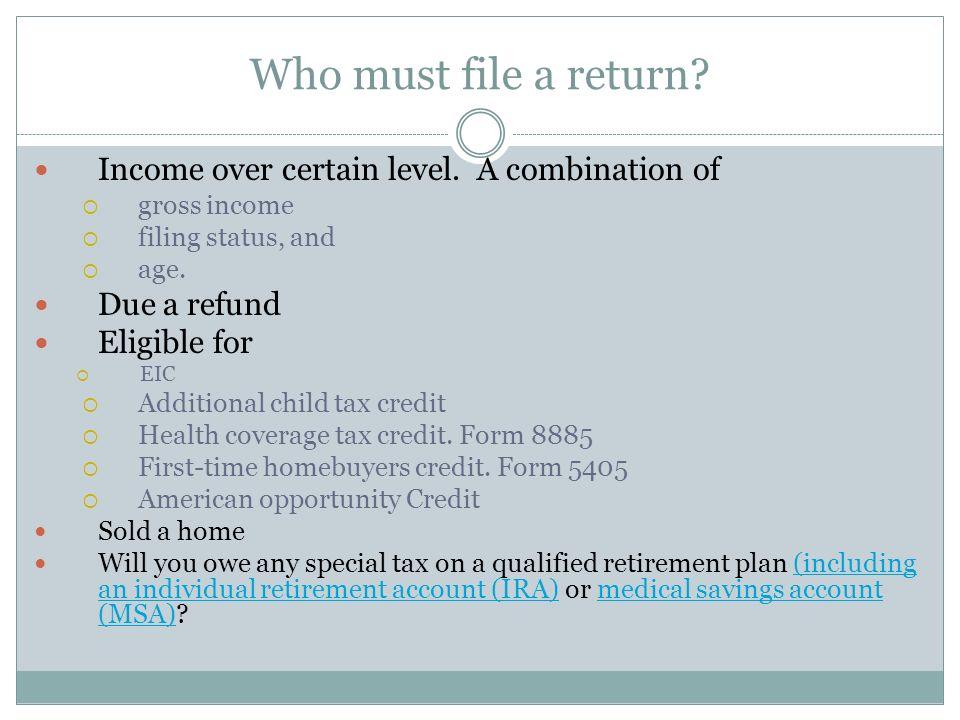 Volunteer Income Tax Preparation January 2013 ACCT 4210 Judith ...