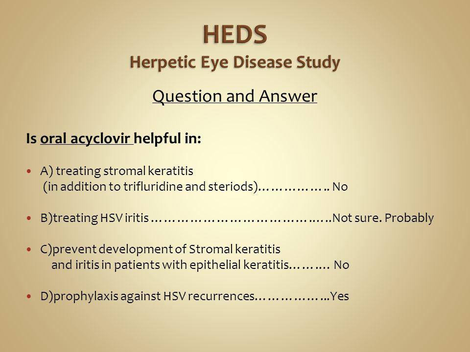 The herpetic eye disease study - ScienceDirect