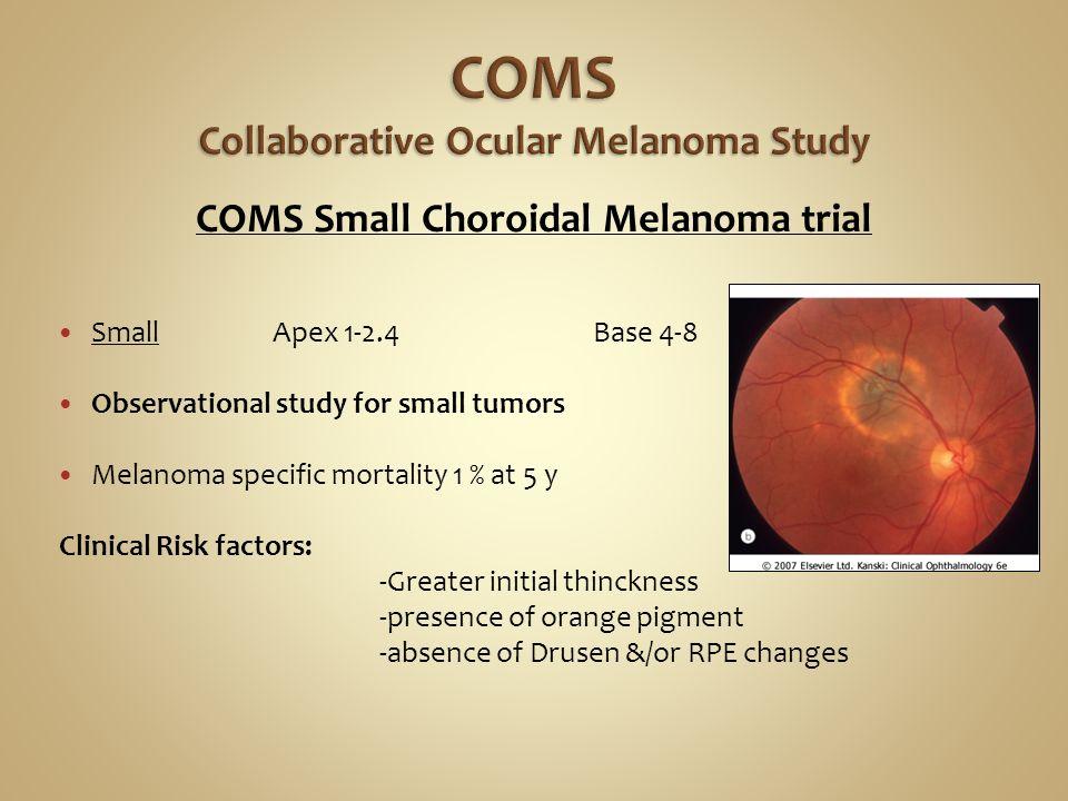 The Collaborative Ocular Melanoma Study (COMS) randomized ...