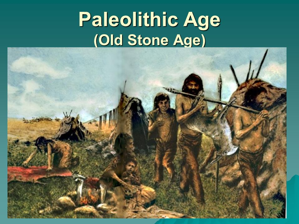The findings from the paleolithic age in africa