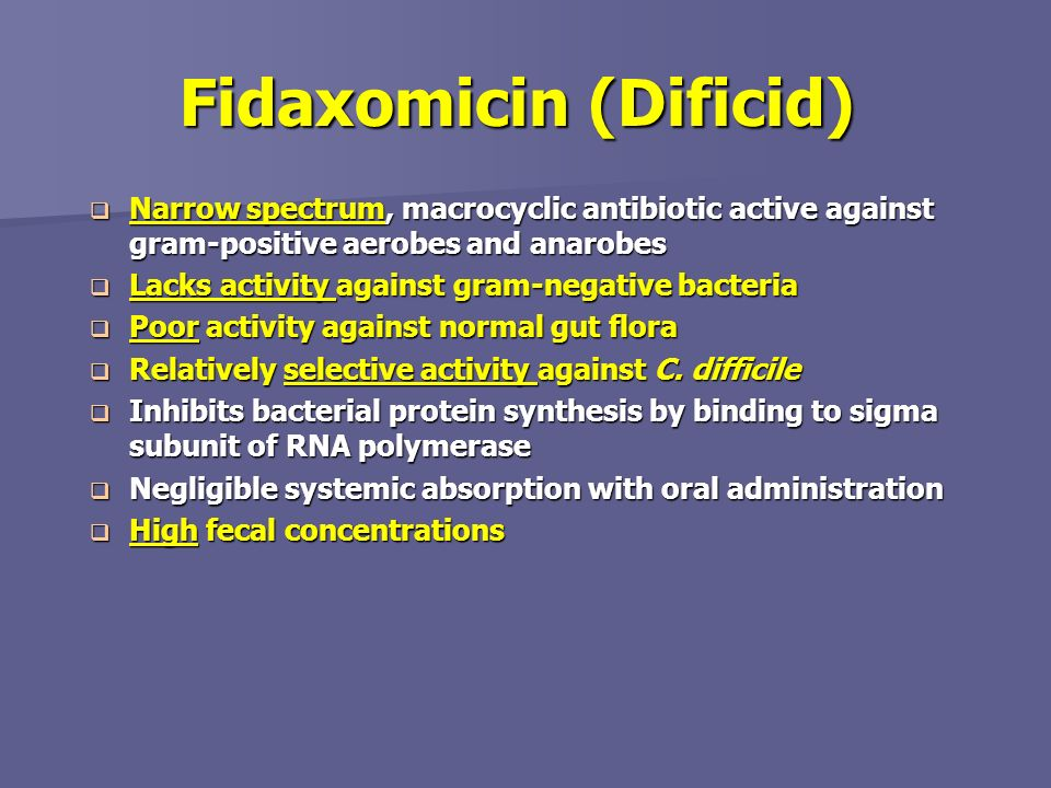 Fidaxomicin class – Blog about body and health