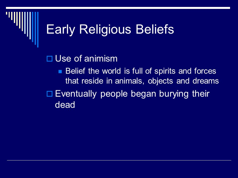 Early Religious Beliefs