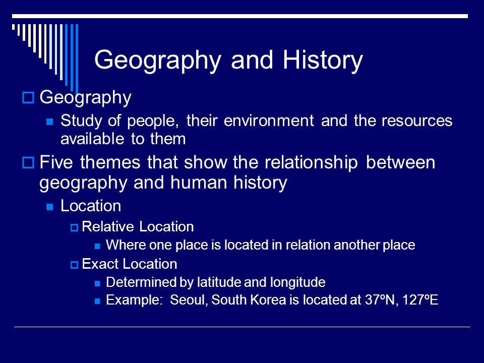 Geography and History Geography