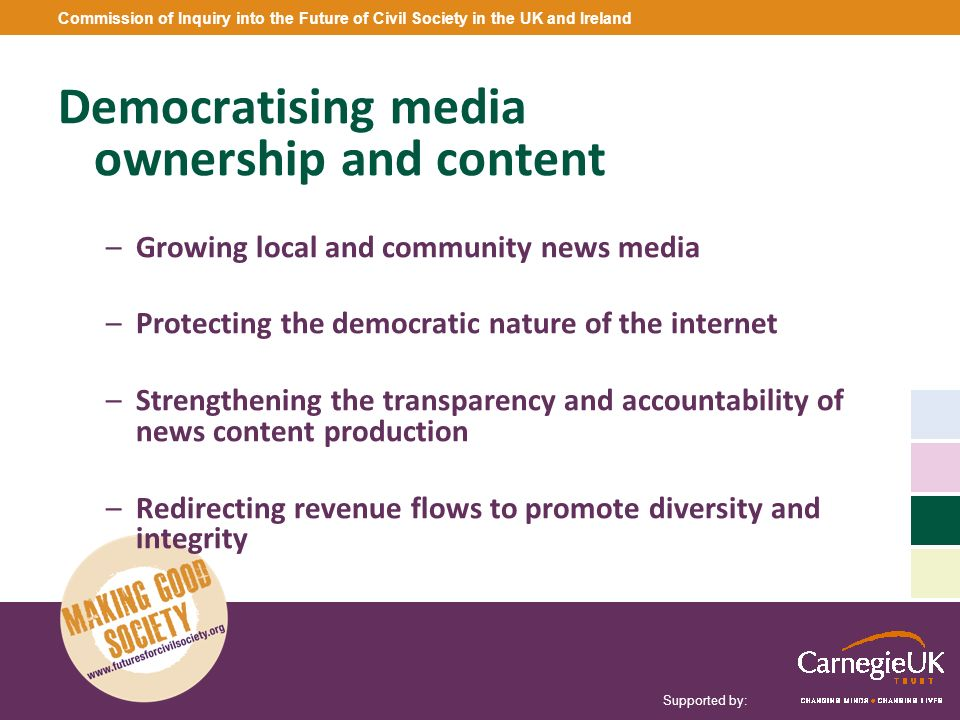 Democratising media ownership and content