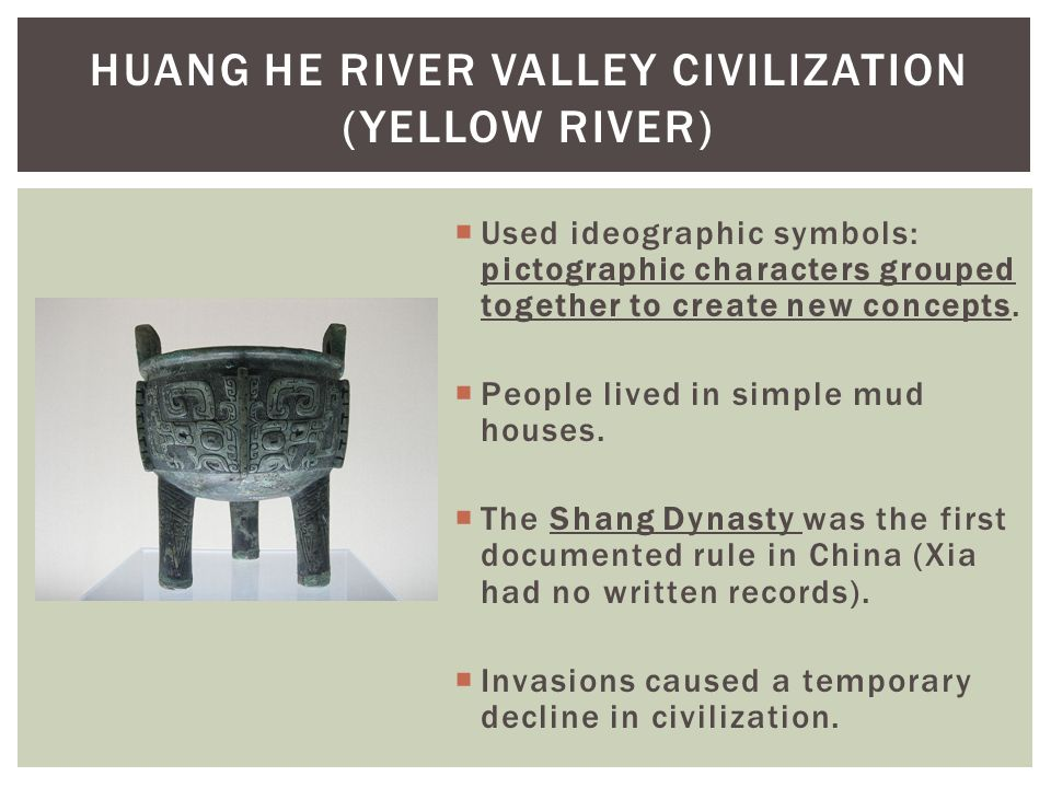 Chapter 1 from human prehistory to the early civilizations ppt huang he river valley civilization yellow river sciox Choice Image
