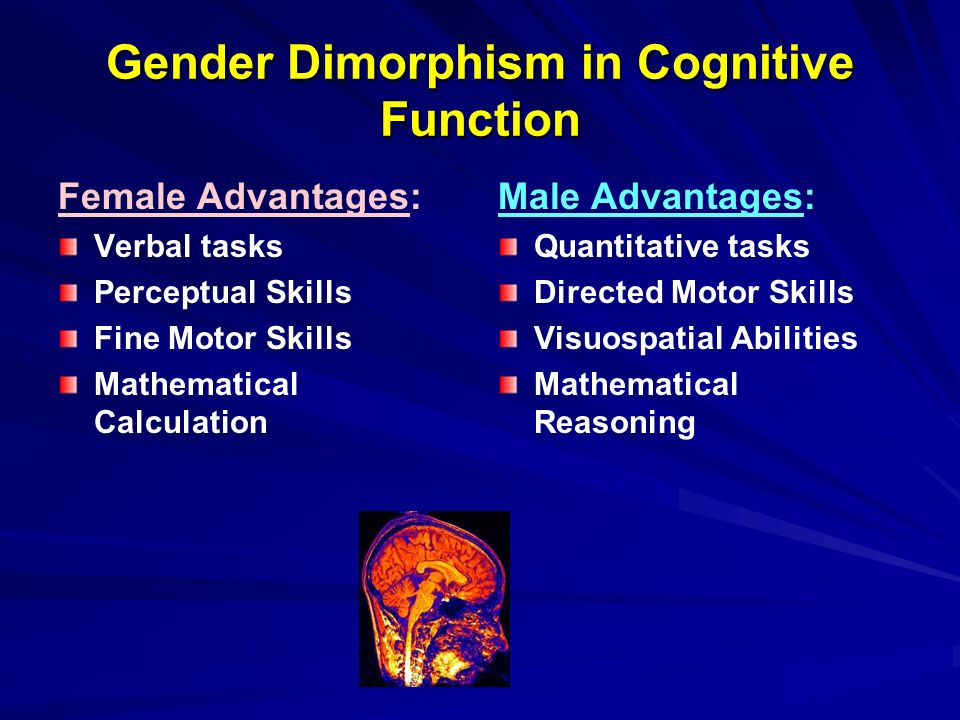 findings on sexual dimorphism Sexual dimorphism in brain size is common  our findings suggest that the female hormone estrogen may serve as one of the key  bmc evolutionary biology issn.