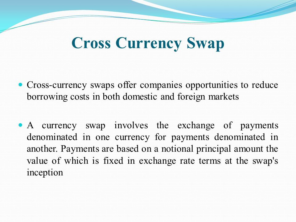 cross currency interest rate swap pdf