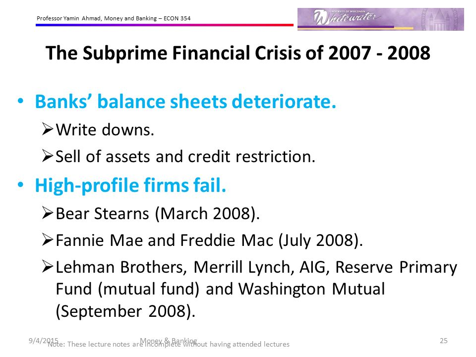 subprime meltdown global recession The domino effect, along with other components of the financial meltdown, spread worldwide creating a global recession but as the economy normalizes, several types of subprime mortgages have disappeared.