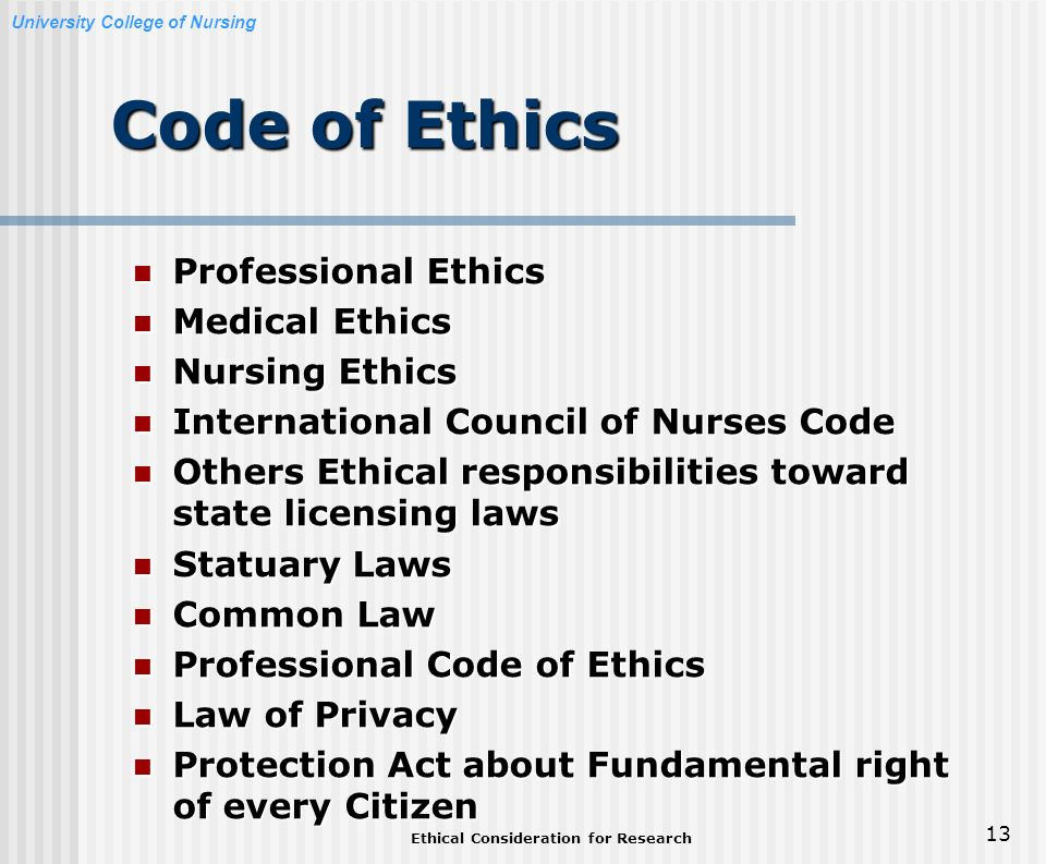 nursing laws and ethics Nancy brent nancy j brent, rn, ms, jd, a nurse attorney in private law practice in wilmette, il, represents nurses and other health care providers before the state agency that regulates health professionals.
