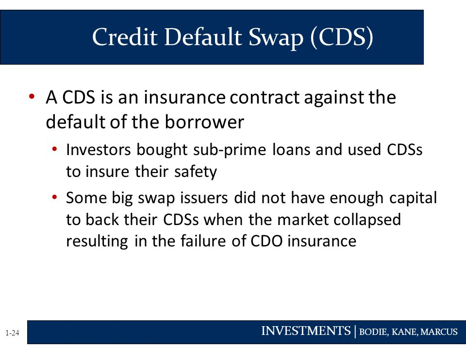 cds credit default swap A credit default swap is a contract that provides protection against credit loss on an underlying reference entity as a result of a specific credit event.