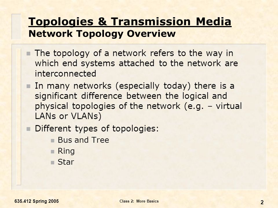An overview of various network mediums