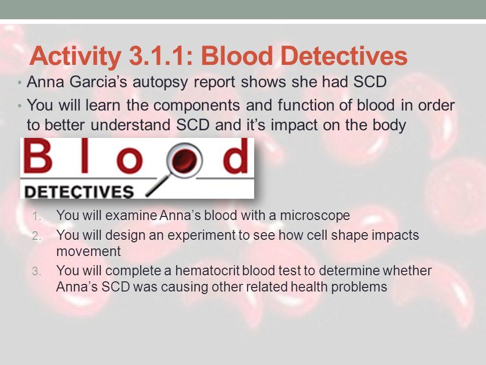 Activity 3.1.1: Blood Detectives