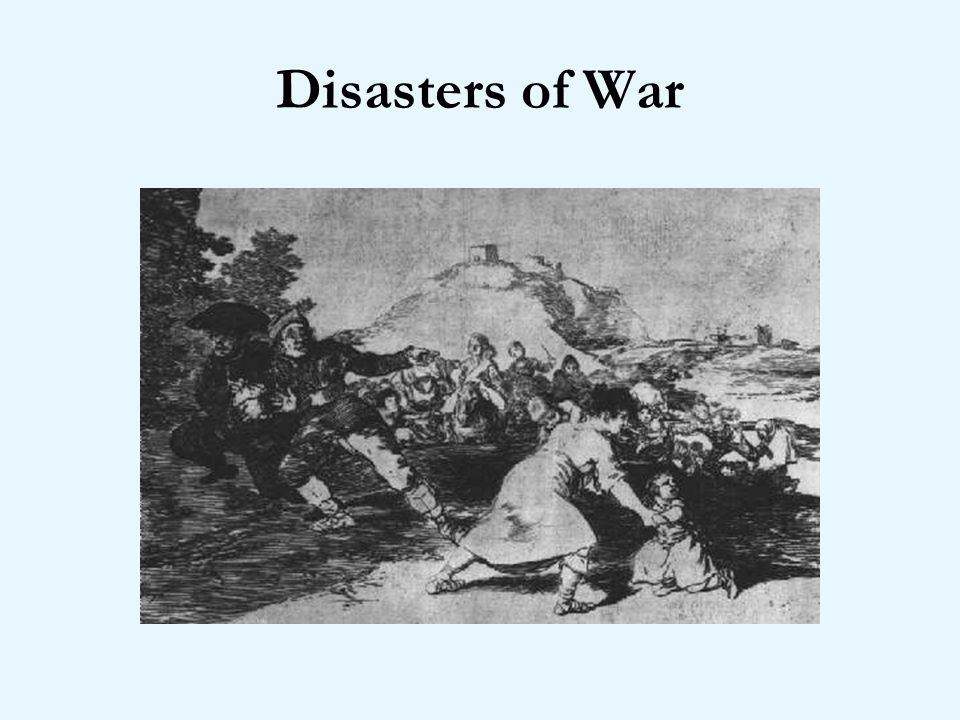 Disasters of War I saw this - title