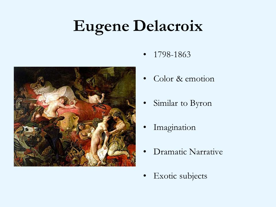 Eugene Delacroix Color & emotion Similar to Byron