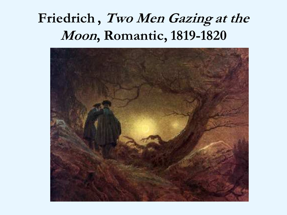 Friedrich , Two Men Gazing at the Moon, Romantic,