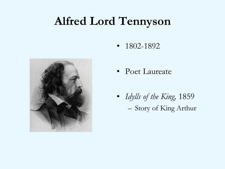 Alfred Lord Tennyson Poet Laureate Idylls of the King, 1859