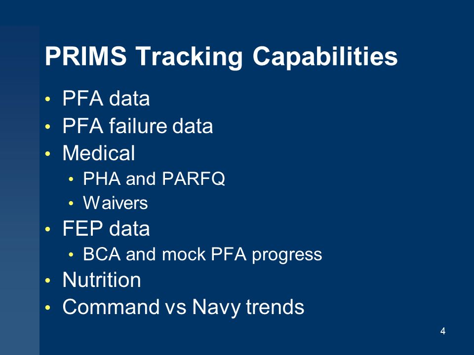 Physical Readiness Information Management System (PRIMS) - ppt ...
