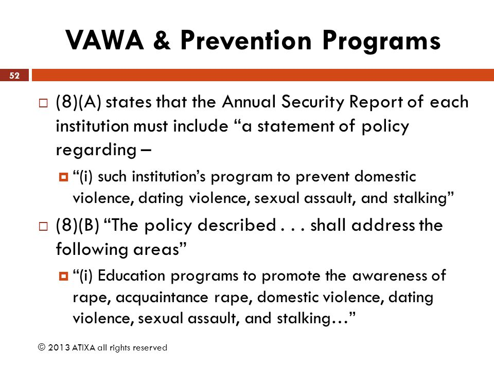 sexual assault prevention program Therefore, sexual violence prevention efforts might target the development of  a  sound prevention program enhances and assists protective factors and.