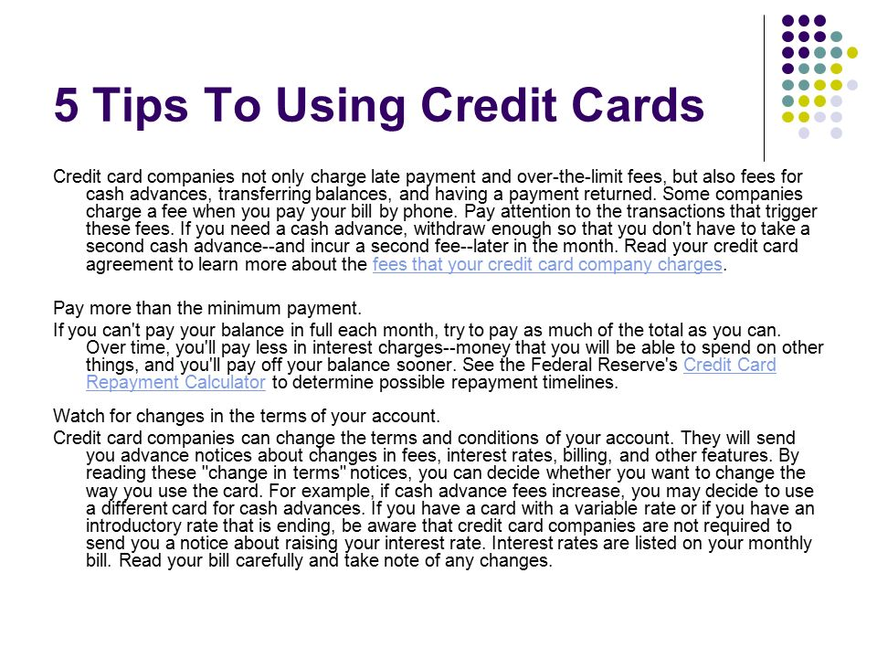 use your credit card wisely it How to use a credit card getting your first credit card is a major financial step  used properly, credit cards offer a flexible way to cover unexpected expenses.