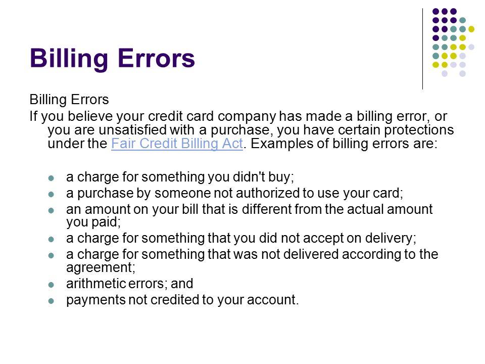 fair credit billing act pdf