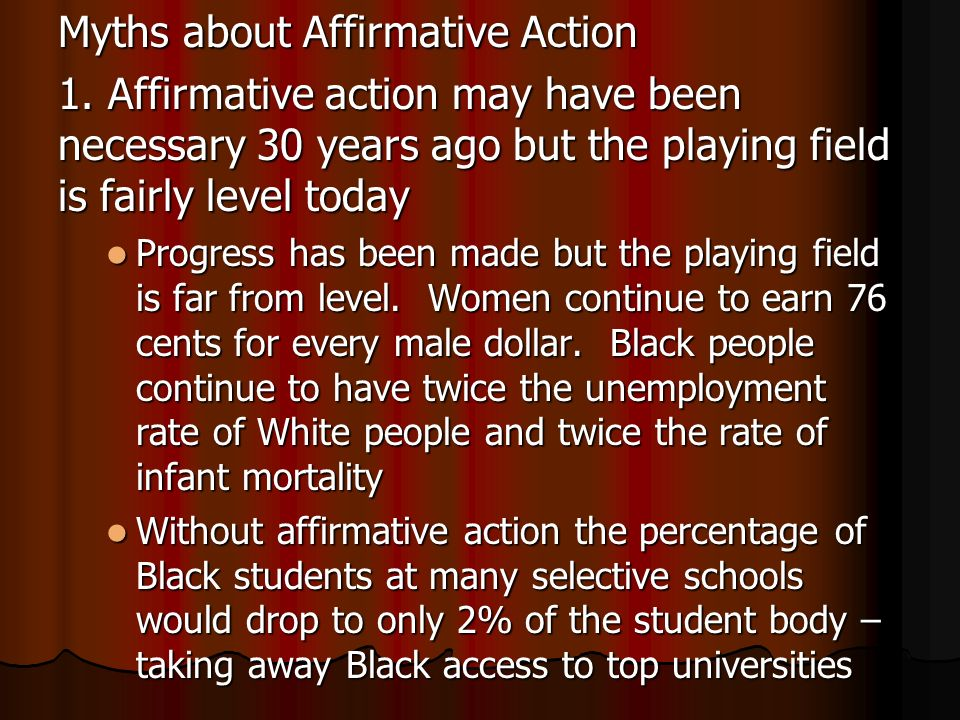 the position of affirmative action in universities today 1998-4-2  affirmative action requires corporations, universities  the position this is why affirmative action  action has become an important topic in today.