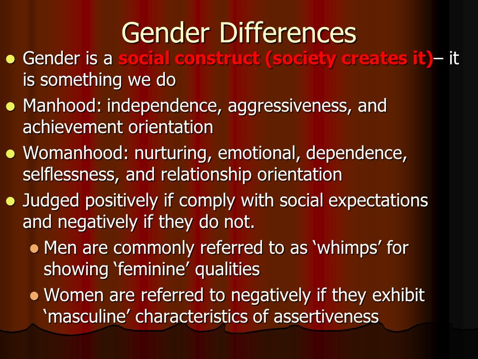 Gender as a Socially Constructed Accomplishment