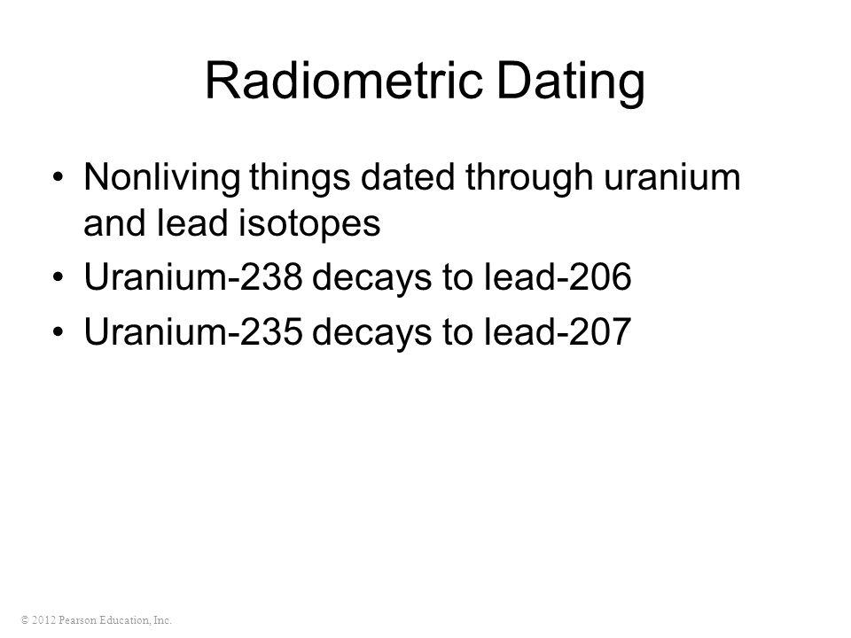 Uranium 238 dating
