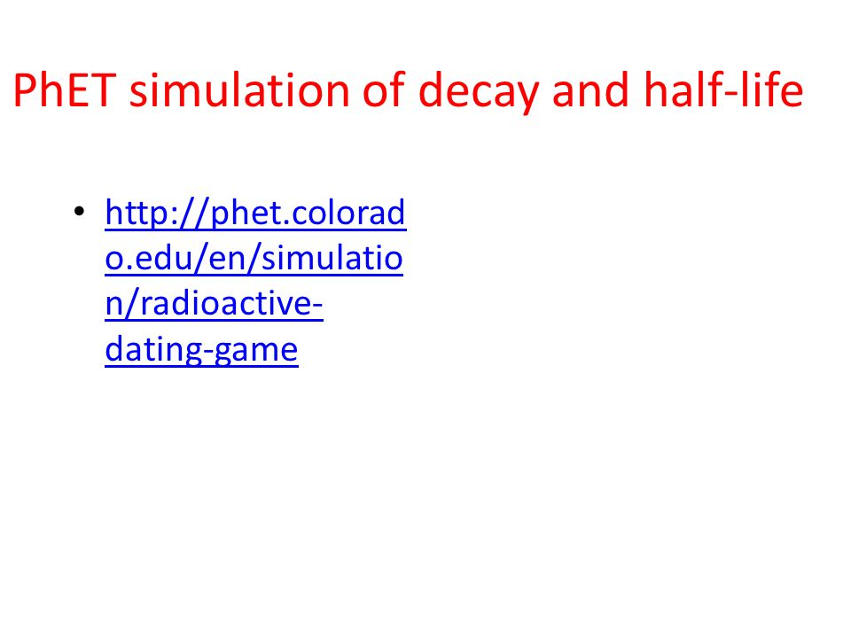 Radioactive decay dating game